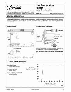 Danfoss Ke04107 Valve Drive Amplifier Installation Guide