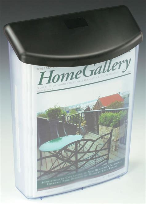outdoor brochure box clear plastic display  leaflets