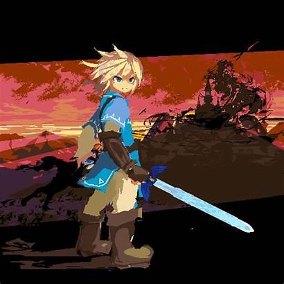 Breath Wild Pixel Link Zelda Legend Evil
