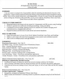 Functional Resume Assistant by 6 Administrative Assistant Resume Templates Free Sle Exle Format