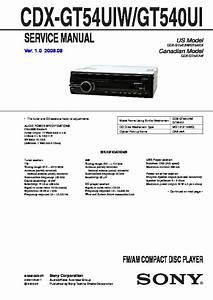 Sony Cdx Gt610ui Wiring Diagram