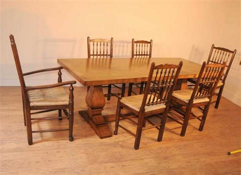 oak kitchen table set oak kitchen diner chair set refectory table and