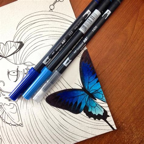 Coloring With Brush Pen by Use Tombow Dual Brush Pens To Create Beautiful Blended