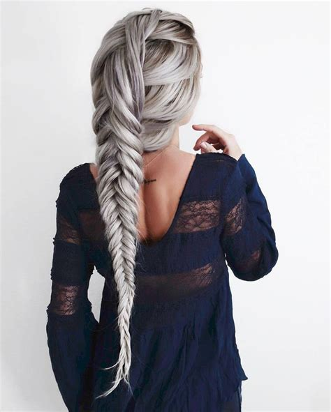hair accessory tumblr silver hair hairstyles braided