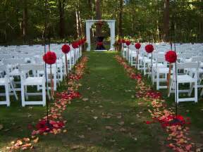 outdoor wedding aisle weddingspies fall outdoor wedding fall outdoor wedding ideas