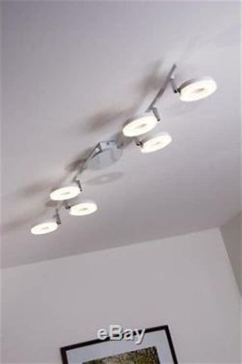 eclairage led cuisine 6 spots sur rail lustre led plafonnier moderne le à suspension blanche 75836