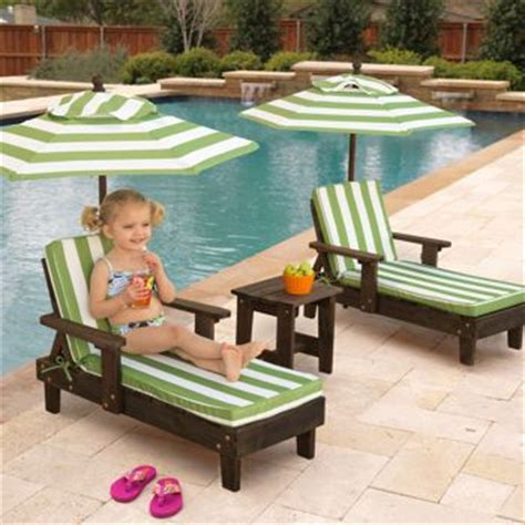 costco kidkraft outdoor youth chaise lounger set oh my