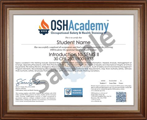 offshore oil gas sems ii oshacademy  safety training
