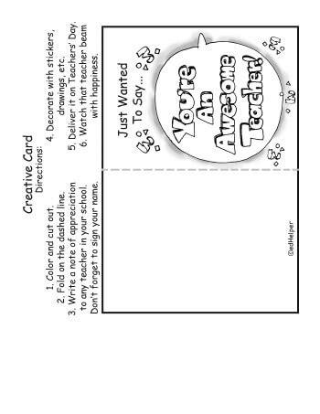 teachers day card black  white   hq