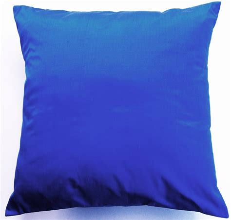 blue and throw pillows cobalt blue throw pillow simply silk cushion cover 16 x 16