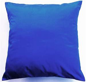 Cobalt blue throw pillow simply silk cushion cover 16 x 16 for Blue throws and cushions