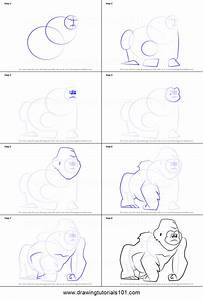 How To Draw The Sad Gorilla From Bubble Guppies Printable
