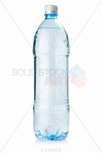 stock photo of clear blue plastic bottle with white lid no With bottled water no label