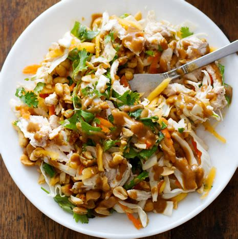 thai chicken chopped thai chicken salad recipe pinch of yum