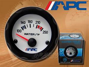 Apc Universal 52mm 2 U0026quot  Water Temp Temperature Performance White El Gauge Meter