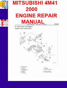 Mitsubishi 4m41 2000 Engine Repair Manual