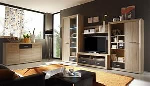 Wohnwand Mit Sideboard : wohnwand mit sideboard sonoma eiche abs pinie woody 61 00040 ebay ~ Frokenaadalensverden.com Haus und Dekorationen