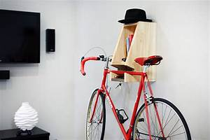 A Multifunctional, Blue-Stained Wooden Bike Rack - Cool
