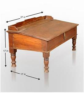 Rangilo Rajasthan Antique Teak Wood Writing Desk by Mudra