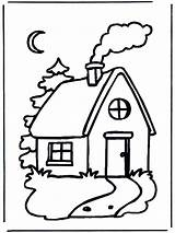 Coloring Cabin Pages Log Popular sketch template