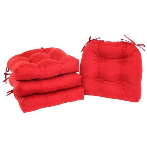 kitchen chair cushions walmart mainstays faux suede chair pad with ties set of 4