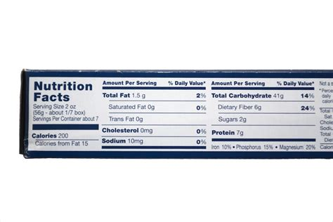 Barilla Pasta Nutrition Facts