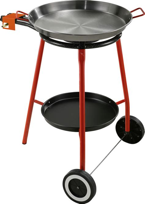 Outdoor Paella Set   Approximately 10 Serving (includes Standard Gas Burner, Polished Paella Pan