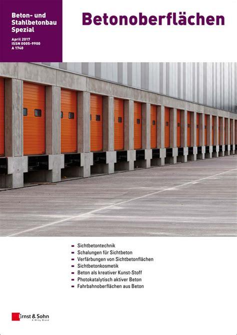 Der Baustoff Beton Und Seine Eigenschaften by Betonoberfl 228 Chen Beton Publikationen Baunetz Wissen