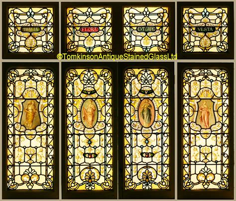 ref vic set  victorian stained glass windows