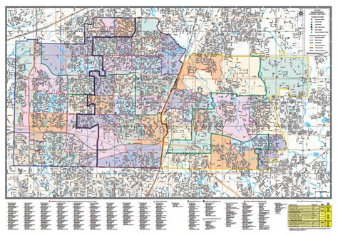 map district plano maps zone zones independent enterprise custom