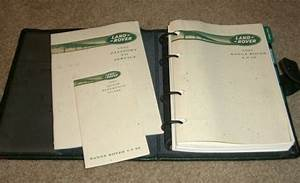 1995 Range Rover Owners Manual Set Guide 95 4 0 Se