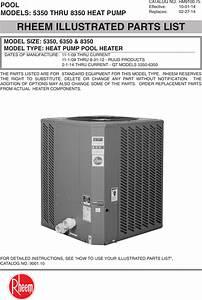 Rheem Quiet Technology Heat Pump Parts List 9100 21 130a