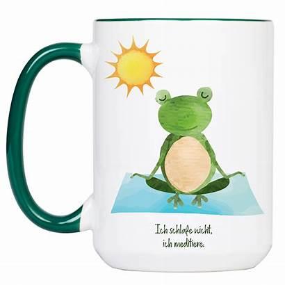 Yoga Tasse Frosch Spruch Meditation Ohne Od