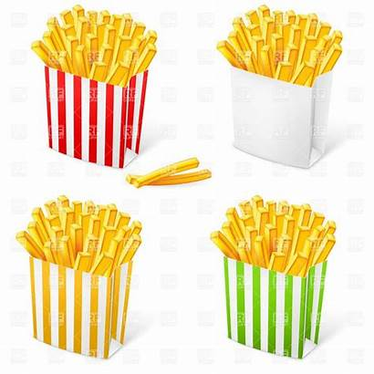 French Fries Clipart Clip Chips Box Paint
