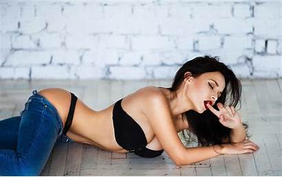 Thong Jeans Lingerie Pants Down Angelina Petrova