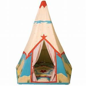 Tente Enfant Tipi : cabane tente de cowboy tipi pour enfant wingreen ~ Teatrodelosmanantiales.com Idées de Décoration