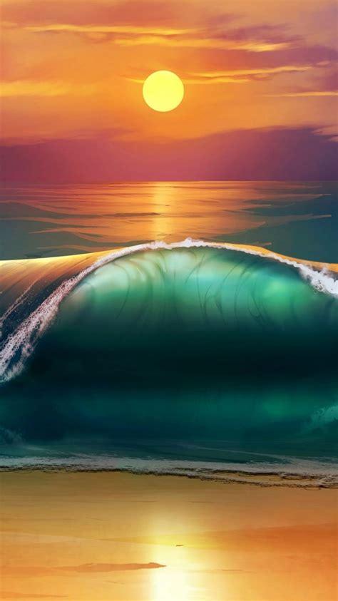 ~~sunset Beach Sea Waves Wallpaperscraft~~ Water ~ Sea