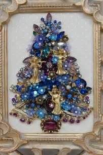 vintage jewelry christmas tree jewelled trees pinterest