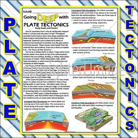 Click the circle by an answer with the mouse, then click on the submit button to get a response. Worksheet: Plate Tectonics Study Guide and Practice | 8th ...