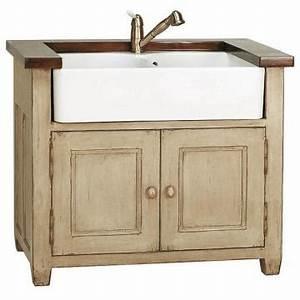 meuble cuisine style campagne la convivialit du0027une With meuble cuisine style campagne 5 meuble evier de cuisine 2 bacs en bois