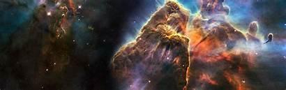Dual Screen Wallpapers Monitor Space Nebula Widescreen