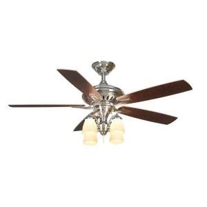 bristol lane 52 inch polished nickel ceiling fan with