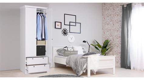 Kleiderschrank Landwood Schrank In Weiß Mit 2 Schubkästen