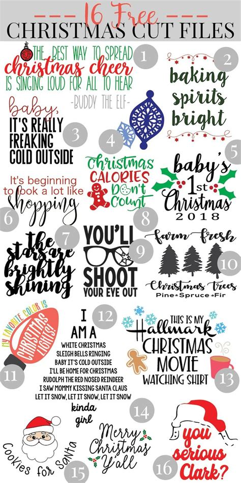 These free christmas svg files are perfect for holiday crafts, decor, and gifts. Pin on Christmas crafts