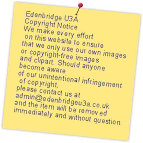 edenbridge u3a 2016 17 subscriptions due