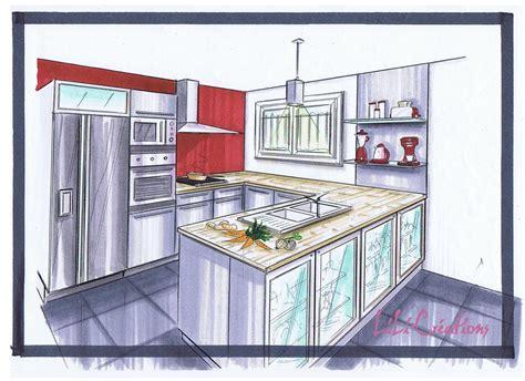 dessin d une cuisine le de elise fossoux décoration architecture d