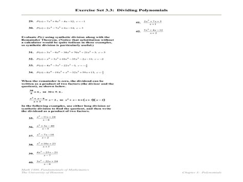 printables synthetic division worksheet mywcct thousands