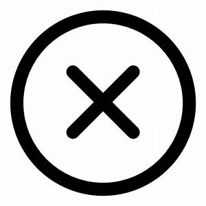 Cancel - Free signs icons