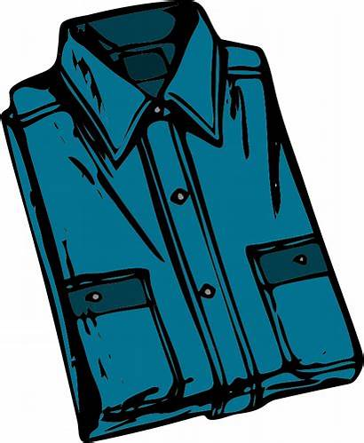 Shirt Clip Clothes Chemise Folded Clipart Clothing