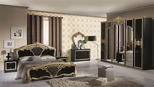 Bettwäsche Schwarz Gold : schlafzimmer elisa in schwarz gold 6 t rig luxus italienische dh ev blac g s 6a2x2 ~ Buech-reservation.com Haus und Dekorationen